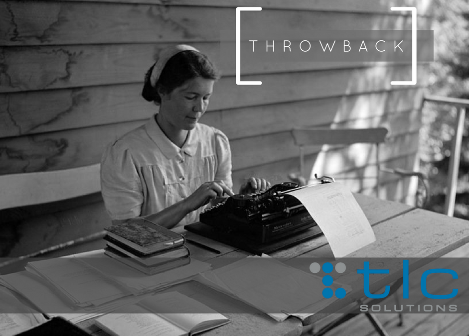 Throwback Thursday – The Typewriter and Literature